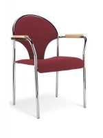 Scaun Bistro Ibis arm chrome