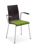 Scaun Bistro Cafe VII arm chrome seat plus