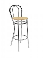 Scaun Bar Adria Hocker chrome wood