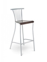 Scaun Bar Baleno Hocker wood chrome