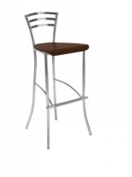 Scaun Bar Molino Hocker chrome wood